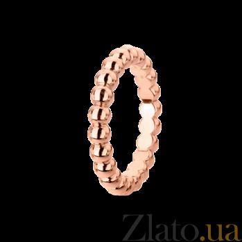 Кольцо из розового золота Perlée малая модель R-VCA-Perlée-R-little