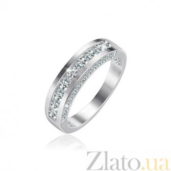 Серебряное кольцо с фианитами Александра 000025730