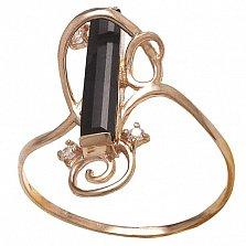 Золотое кольцо Карлотта с агатом и фианитами