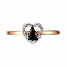 Кольцо Дарина из золота с бриллиантами и сапфиром