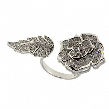 Золотое кольцо с бриллиантами Rose