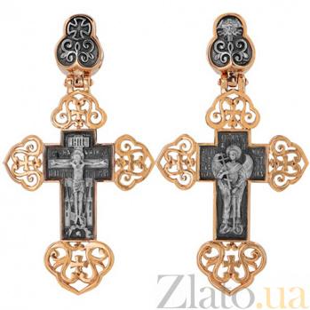 Крест Ангел Хранитель в красном золоте VLT--КС1-3054-1