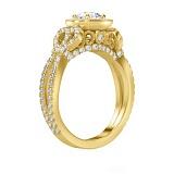 Кольцо с бриллиантами из желтого золота Пробуждение радости