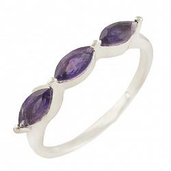 Серебряное кольцо Неилина с аметистом