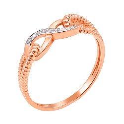 Кольцо из красного золота с фианитами 000006115