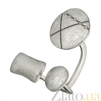 Серебряное кольцо с цирконием Интрига К1-3л бц