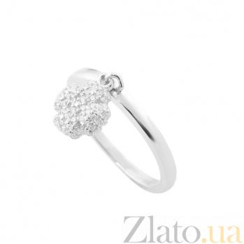 Серебряное кольцо с подвеской Келли с фианитами 000080135