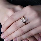 Золотое кольцо с цирконием Капелька света