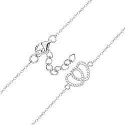 Серебряный браслет с цирконием 000140362