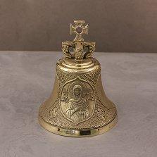 Бронзовый колокольчик Св.Татьяна с узорами и изображением молитвы на тыльной стороне