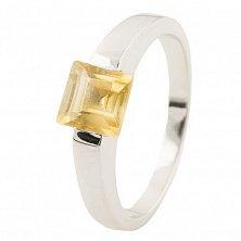 Серебряное кольцо Солнечный город с цитрином
