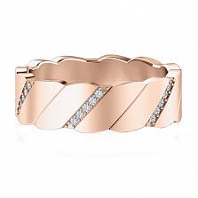 Обручальное кольцо из розового золота Мой милый ангел: Лёд и пламя