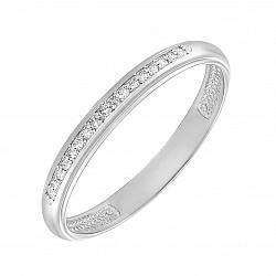 Обручальное кольцо из белого золота с бриллиантами 000134024