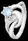 Кольцо из серебра с фианитами Холли 000025668
