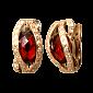 Серьги из красного золота с гранатом Агнесса PTL--1с290/54