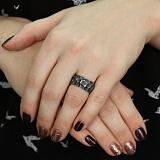 Серебряное кольцо чернёное