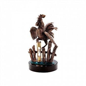 Бронзова скульптура Новий час на базальтовій підставці 000051935