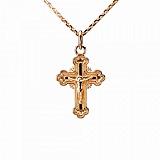 Крестик из красного золота Сияние святости
