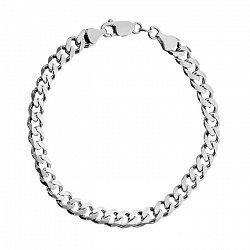 Серебряный браслет с алмазной гранью 000071874, 5мм