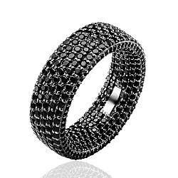 Обручальное кольцо в белом золоте Триумф с черными бриллиантами 000049983