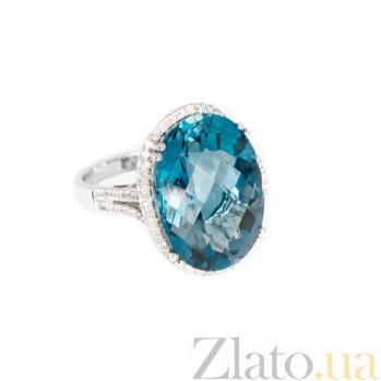 Золотое кольцо с топазом и бриллиантами Аксинья 1К034-0821