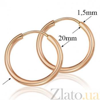 Золотые серьги-кольца Дерби EDM--С003