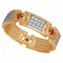 Золотое кольцо с фианитами Мелинда