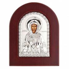 Серебряная икона Матроны Московской