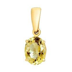 Подвеска в желтом золоте с бриллиантом 000079218
