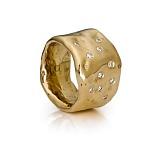 Золотое кольцо Самородок с бриллиантами