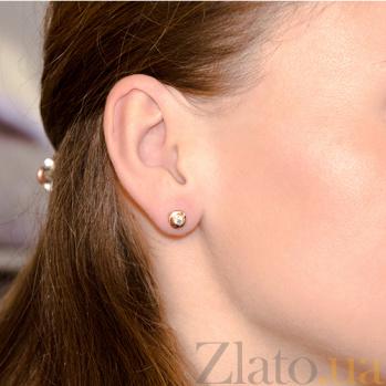 Серьги-пуссеты с бриллиантами Naomi E 0688/крас