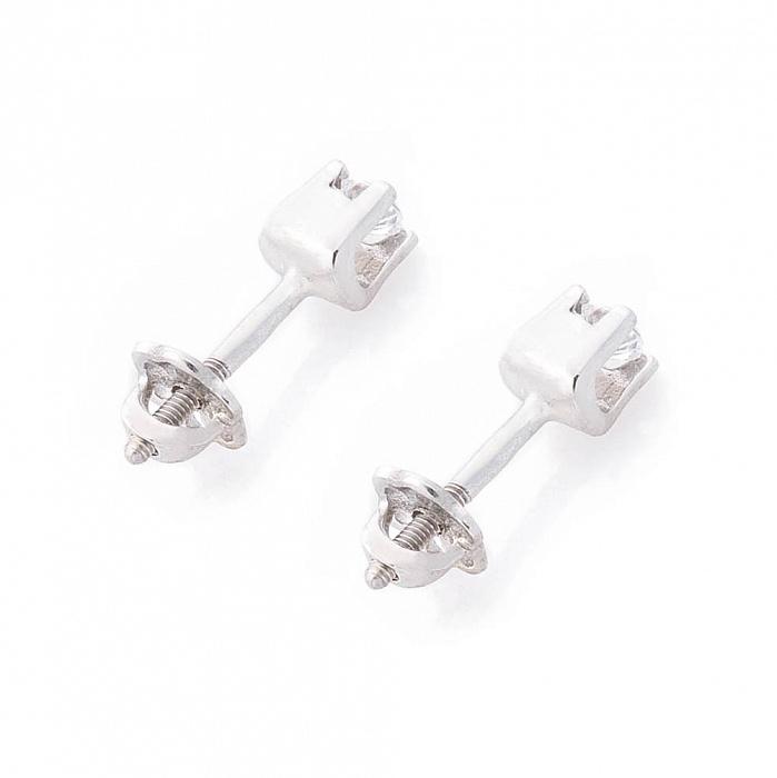 Серебряные серьги-пуссеты Джози с цирконием 000080149