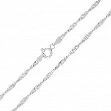Серебряная цепь Фламенко с родированием, 1,5 мм