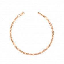 Золотой браслет Нонна с алмазной гранью, 2,5 мм