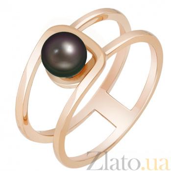 Золотое кольцо с жемчугом Шум прибоя 000032801