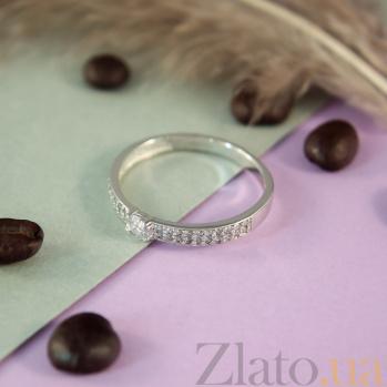 Кольцо из белого золота с фианитами Карина 000023220