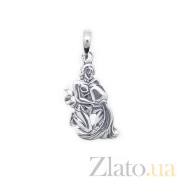 Серебряный кулон знак зодиака Водолей AQA--3085-11
