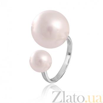 Серебряное кольцо с жемчугом Власта 000028040