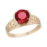 Кольцо в красном золоте Амалия с гранатом