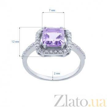 Серебряное кольцо с аметистом Нинель AQA--R01295Am
