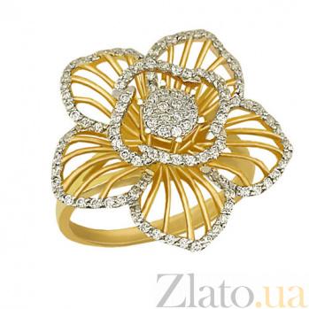 Кольцо из желтого золота Мальва с цирконием VLT--ТТ1025-1