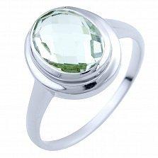 Серебряное кольцо Римма с зеленым аметистом
