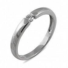 Обручальное кольцо Непростое украшение из белого золота с бриллиантом