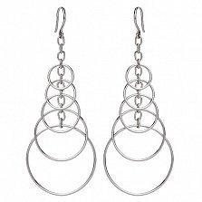 Серебряные серьги-подвески Бриония