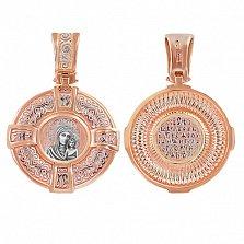 Ладанка из комбинированного золота Икона Богородицы Казанской