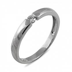 Обручальное кольцо Неповторимая из белого золота с бриллиантом