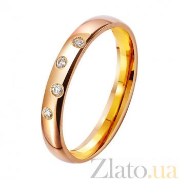 Золотое обручальное кольцо Beautiful wedding с фианитами TRF--412236