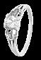 Серебряное кольцо с цирконием Алоли 000025728