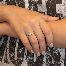 Серебряное помолвочное кольцо Ванесса с кристаллом Swarovski