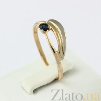 Золотое кольцо с сапфиром Синева небес 000027249